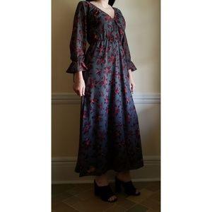 Madewell Willowleaf Tie Sleeve Maxi Dress  2